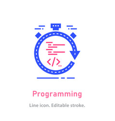 programming icon on white background vector image