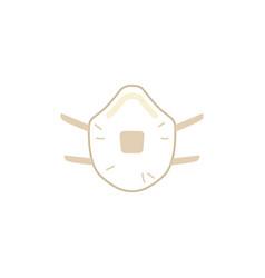 protective gas mask with respirator icon vector image