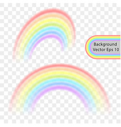 rainbow on a transparent background vector image