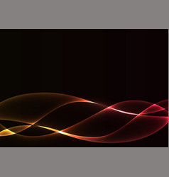 red flame curve layer abstract background vector image