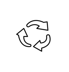 rotation arrows in a circle line icon vector image
