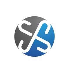 S letter logo Template vector image
