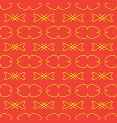 seamless pattern on the red background vector image