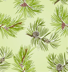 Seamless texture two pine branches vector