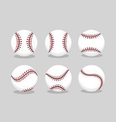 Set baseball ball sport to professional team vector