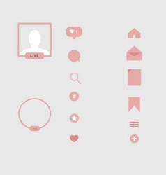 Set of icons social story highlight covers vector