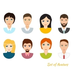set of office team icons vector image