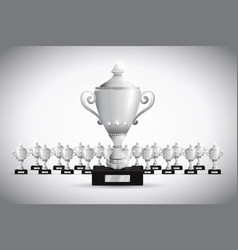 set of trophies vector image