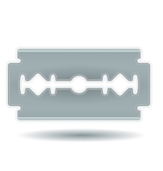 Simple Razor Blade vector image