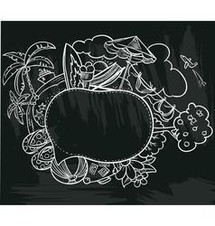summer speech bubble vector image