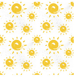 Sun seamless pattern colorful summer ornament vector