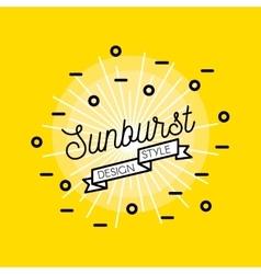 Sunburst Flat Design vector