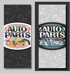 vertical banners for auto parts store vector image