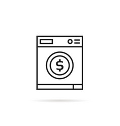 Washing machine with dollar sign vector