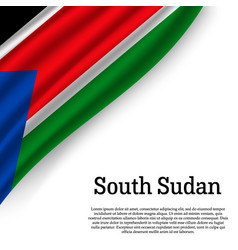 waving flag of south sudan vector image