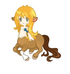 Young friendly centaur vector
