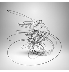 Abstract wire element with connected lines and vector image vector image