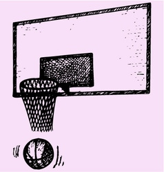 Basketball backboard basket ball movement vector
