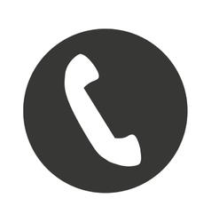 Call phone isolated icon vector