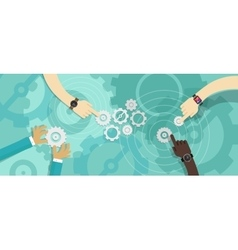 gear team work collaboration vector image vector image