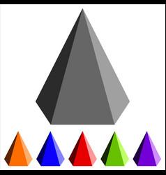 geometric pyramid shape vector image