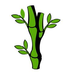 green bamboo stem icon icon cartoon vector image vector image