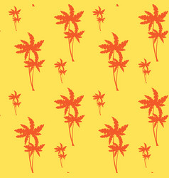 Palm tree seamless pattern tropical ornament vector