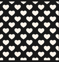 Seamless pattern with heart shapes valentines day vector