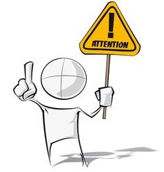 Simple People Attention vector image vector image