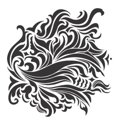 Abstract Wave Ornaments vector image
