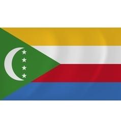 Comoros waving flag vector image