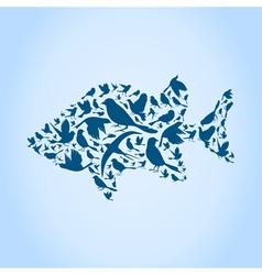 Fish a bird vector image vector image