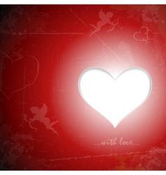 Happy valentines grunge card vector image vector image