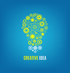 innovation creative idea concept with vector image vector image