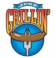 Just Grillin Barbecue Party Graphic vector image vector image