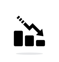 Line chart down icon on white background vector image vector image