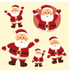 Santa Claus Character Set vector image vector image