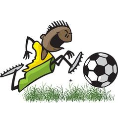 soccer boy vector image vector image
