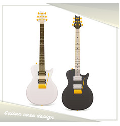 design guitar case vector image
