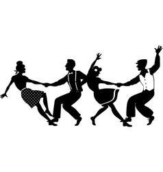 Lindy hop party vector image vector image