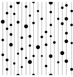 Polka dot black on line seamless pattern vector image