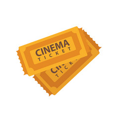 two cinema tickets emblems isolated on white vector image vector image