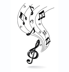 background with music note vector image vector image