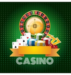Casino background poster print vector image