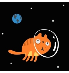 Character Space Cat vector image vector image
