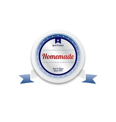Homemade product sale and quality label sticker vector