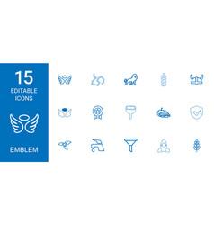 15 emblem icons vector