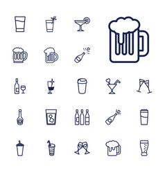 22 alcohol icons vector