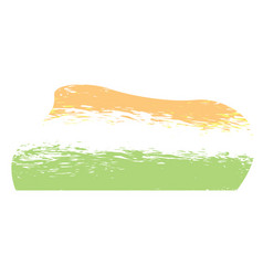 Abstract flag sketch of india vector