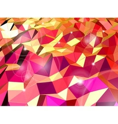 Abstract red background Combination of triangle vector image